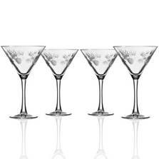 Icy Pine Martini Glass Set of 4 | Rolf Glass | 207131