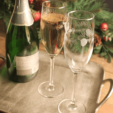 Icy Pine Flute Set of 4   Rolf Glass   207452