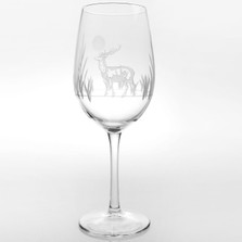 Deer All Purpose Wine Glass Set of 4 | Rolf Glass | 218267
