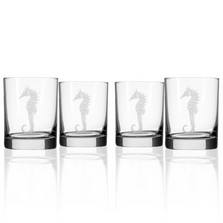 Seahorse Double Old Fashioned Glass Set of 4| Rolf Glass | 221007