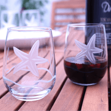 Starfish Wine Tumbler Set of 4 | Rolf Glass | ROL400334-2