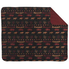 Black Denali Lake Moose Throw Blanket | Denali | DHC16106672
