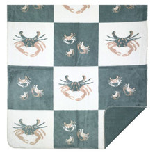 Light Marine Sand Crab Blocks Throw Blanket | Denali | DHC16117872