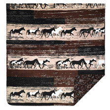 Horses Sable Paisley Throw Blanket | Denali | DHC16124972