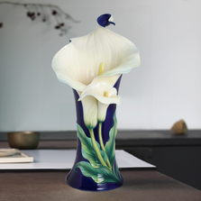 Calla Lily Flower Large Vase | FZ02359 | Franz Porcelain Collection