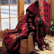 Red Running Horse Plush Throw | Denali | DHC16161572