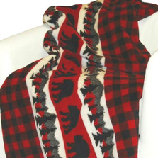 Bear Plaid Border Microplush Throw | Denali | DHC16162072