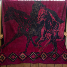 Wild Horses Throw Blanket | Denali | DHC16164072 -2