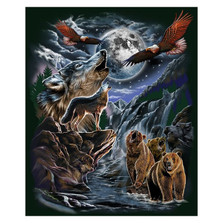 Wolf Faux-Mink Blanket 7 Hidden Wolves | DUKDB5203