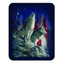 Wolf Blanket Patriotic Wolves | DUKDB5302-2
