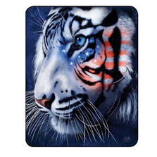 White Tiger Blanket White Stripes Patriotic Tiger | DUKDB5304-2