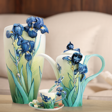 Van Gogh Iris Flower Porcelain Vase | FZ02404 | Franz Porcelain Collection