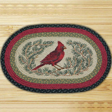 Cardinal Oval Patch Rug | Capitol Earth Rugs | CEROP-238