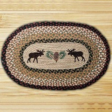 Moose Oval Braided Rug | Capitol Earth Rugs | CEROP-019