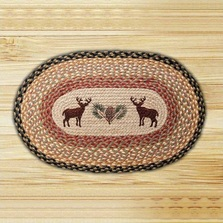 Deer Oval Braided Rug | Capitol Earth Rugs | CEROP-057