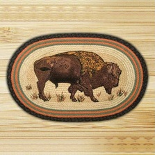 Buffalo Oval Braided Rug | Capitol Earth Rugs | CEROP-240