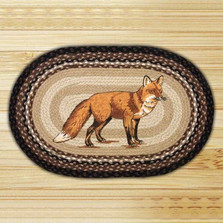 Fox Oval Braided Rug | Capitol Earth Rugs | CEROP-313