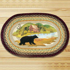Bear Cabin Oval Patch Braided Rug | Capitol Earth Rugs | CEROP-395