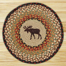 Moose Round Braided Rug | Capitol Earth Rugs | CERRP-019