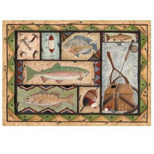 Fishing Area Rug | Custom Printed Rugs | CPR31