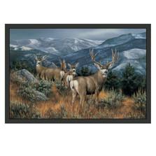 Mule Deer Area Rug The Last Glance | Custom Printed Rugs | CPRmuledeerrug