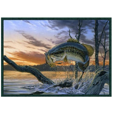 Largemouth Bass Area Rug Strike King | Custom Printed Rugs | CPRstrikeking