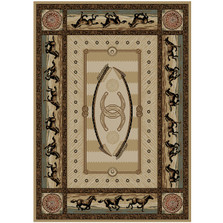 Horse Area Rug Cheyenne - American Destination | Mayberry Rug | MBRAD3843