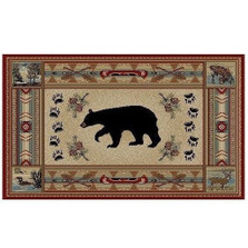 Bear Area Rug Woodlands - Hearthside Collection | Mayberry Rug | MBRHS4882