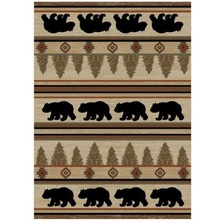 Bear Area Rug Appalachian - Hearthside Collection | Mayberry Rug | MBRHS7482