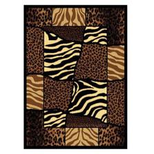 Zebra Leopard Area Rug African Montage | United Weavers | UW910-04450