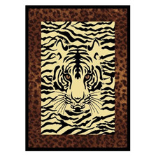 Tiger Area Rug Hidden Eyes Area Rug | United Weavers | UW910-04550