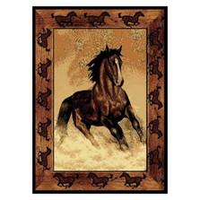 Stallion Border Horse Area Rug | United Weavers | UW910-06930