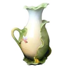 Frog Dragonfly & Lotus Leaves Pitcher | Unicorn Studios | AP20008AA