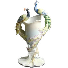 Double Peacock Vase | Unicorn Studios | AP20039AA