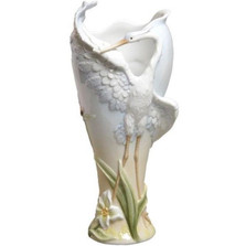 Open-Wing Egret Vase   Unicorn Studios   AP20089AA