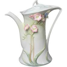 Pink Freesia Porcelain Coffee Pot   Unicorn Studios   AP20173AA