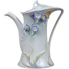 Purple Freesia Porcelain Coffee Pot   Unicorn Studios   AP20173AC