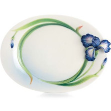 Eloquent Iris Flower Dessert Plate | FZ02494 | Franz Porcelain Collection -2