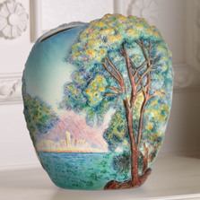Morning at Antibes Porcelain Vase | FZ02527 | Franz Porcelain Collection