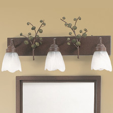 Aspen Leaves Vanity Light | Colorado Dallas | CDBL24GS03