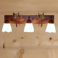 Maple Leaves Vanity Light | Colorado Dallas | CDBL24GS-07FR