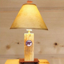 Bear Wood Table Lamp | Colorado Dallas | CDLDW12FR-SH2150-Fl12FR