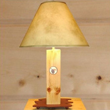 Pinecone Wood Table Lamp | Colorado Dallas | CDLW0227FRNL-SH2156