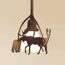 Bear, Moose & Deer Pendant Light | Colorado Dallas | CDPL101615FR