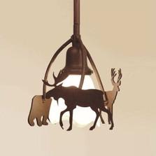 Bear, Moose & Deer Pendant Light | Colorado Dallas | CDPL101615FR