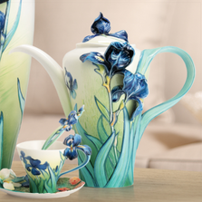 Van Gogh Iris Teapot Franz  | FZ02567 | Franz Porcelain Collection