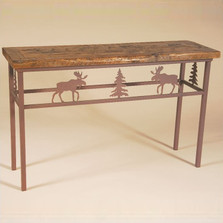 Moose Barn Wood Sofa Table | Colorado Dallas | CDSTBW101310