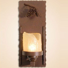 Pinecone Wall Lamp Candle | Colorado Dallas | CDWL80301