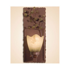 Aspen Leaves Wall Lamp with Glass Shade | Colorado Dallas | CDWL80403