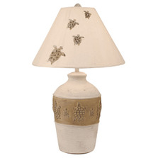 Sea Turtle in Sand Table Lamp | Coast Lamp | CLM CT/GB CT-617 CT
